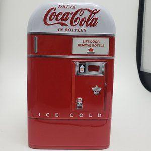 Coca Cola tin money bank